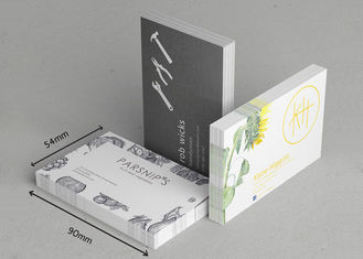 Gloss Lamination Innovative Business Cards Double Side Printing Wtih Foil Logo