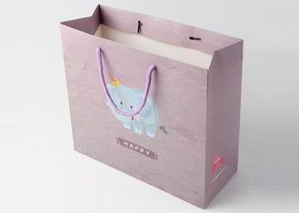 China Customized Christmas Gift Packing Bags Recycled Art Paper For Shopping supplier