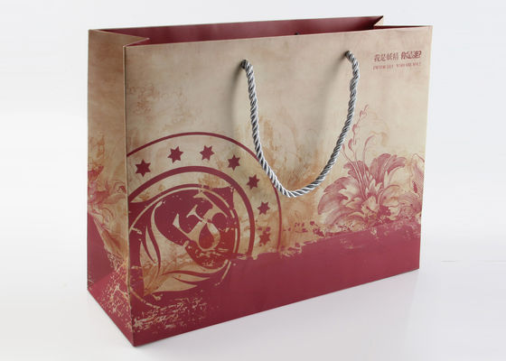 China Matte Laminated Pretty Gift Packing Bags 250GSM Art Paper With PP Handles supplier