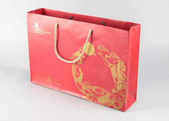 China Multi Color Gift Shopping Bags Pantone CMYK Printing With PP Rope Handles supplier