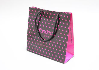 China Oil Vanishing Finishing Glitter Gift Bags , Customized Pretty Gift Bags With Cotton Tape supplier