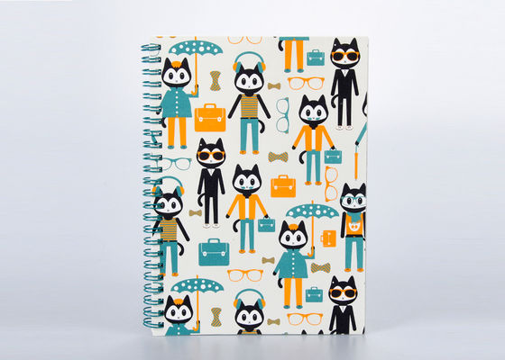 China Matte Finishing Soft Cover Notebook / Journal With Spiral Binding And Cartoon Pattern supplier