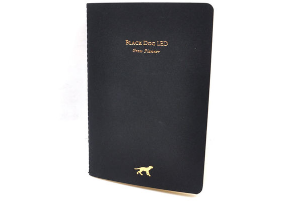 China Gold Stamping Pringting Soft Cover Notebook Custom Logo And Sewing Binding supplier