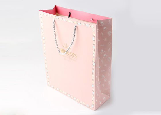 China Luxury Gift Personalized Gift Bags , PP Handle Medium Size Cute Gift Bags factory