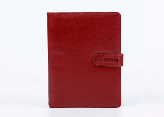 China PU Leather Hard Cover Notebook Planner / Journal Flexor Printing With Pen distributor