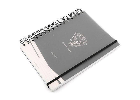 China A5 Plastic Matte Soft Cover Notebook Journal / Diary With Spiral Binding distributor