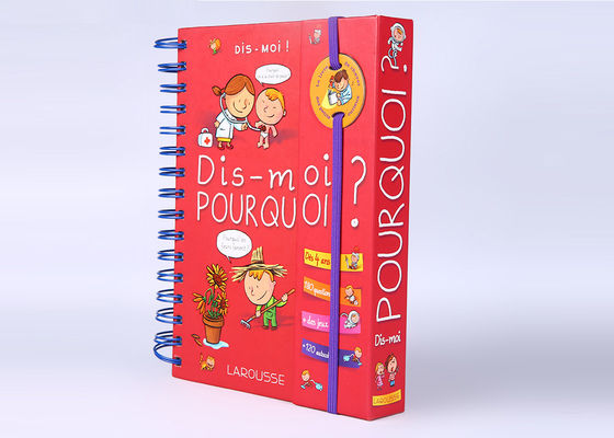 China Wire - O Binding Red Childrens Board Books Hardcover With Elastic Closure distributor