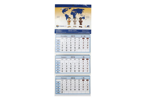 China Customizable Art Paper Wall Calendars Logo Print Coated And Glossy Laminated distributor