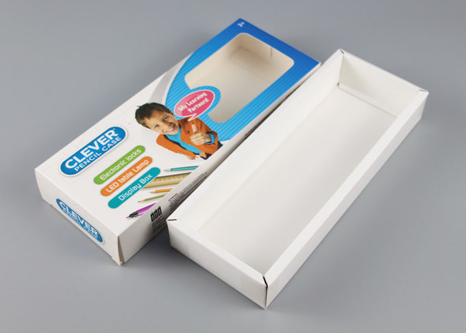 Matte Ivory Board Square Product Packaging Boxes Flexor Printing WIth Plastic Window