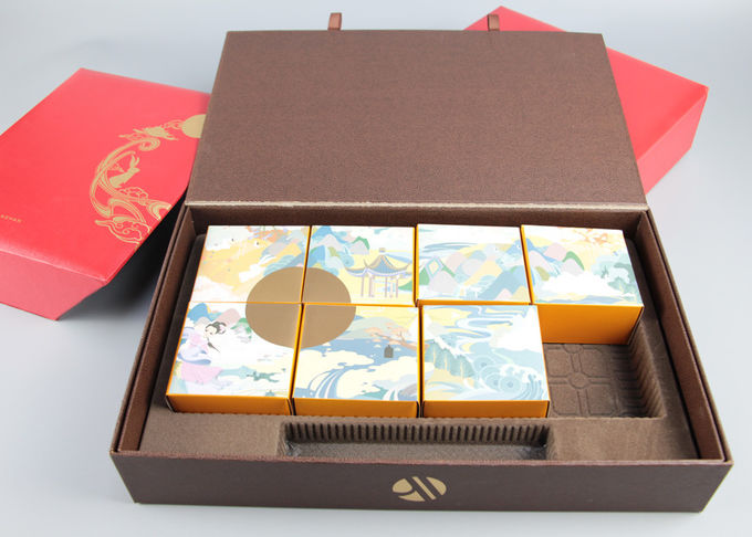 Fancy Paper Paper Packaging Boxes With Gold Foil Hot Stamping For Food Packaging