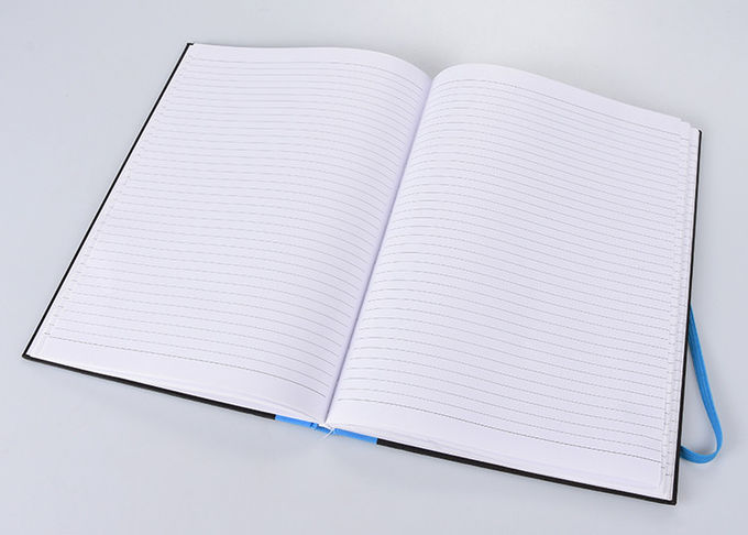 Elastic Band Hard Cover Notebook PU Fabric Material For Business Meeting Note
