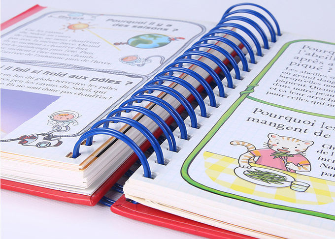 Wire - O Binding Red Childrens Board Books Hardcover With Elastic Closure