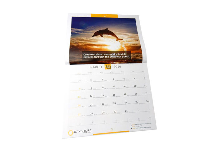 Matte Laminated Poster Wall Calendar , Large Hanging Calendar For Business